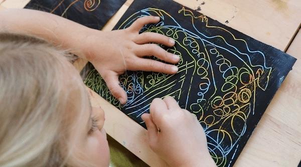 Esgrafiado para niños