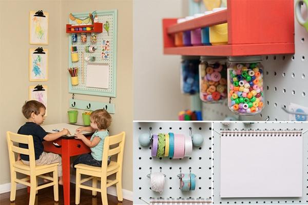 Habitaciones infantiles, rincones de manualidades - Pequeocio