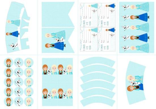 Kit de fiesta para imprimir de Frozen