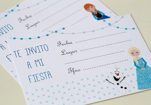 Invitaciones De Cumpleaños De Frozen Gratis Pequeocio Com