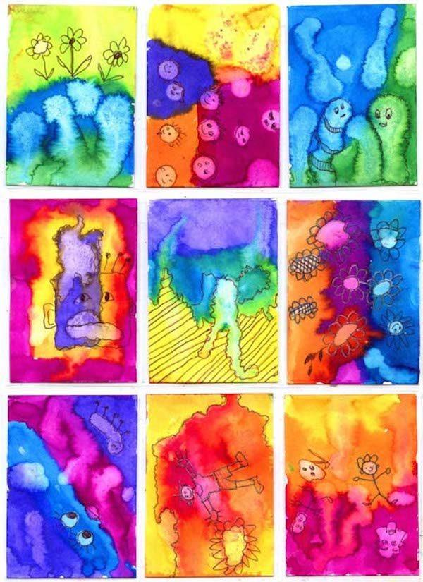Manualidades con pintura pequeocio for Pintura color albero