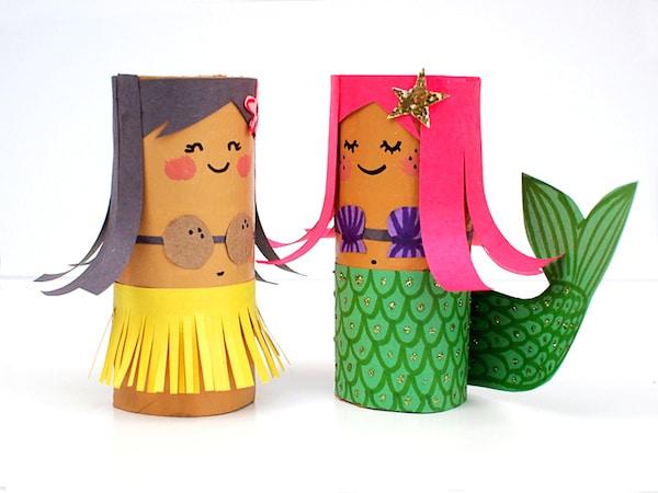 5 manualidades recicladas con rollos de papel pequeocio - Manualidades rollos de papel ...