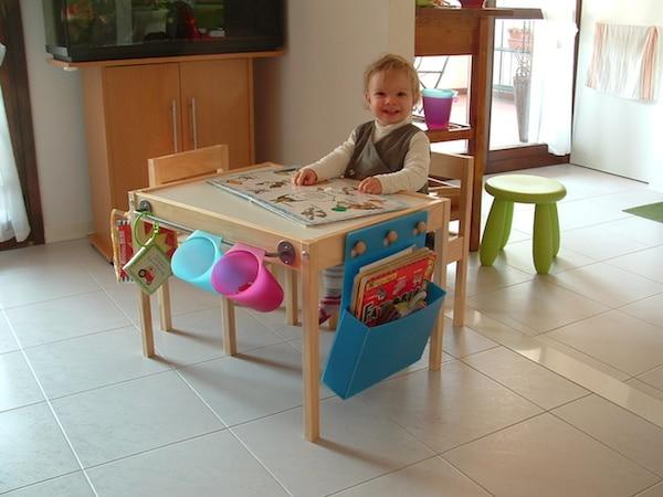 Muebles infantiles 6 mesas de juego caseras pequeocio for Mesa infantil