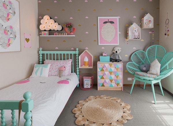Habitaciones infantiles 7 paredes originales y f ciles - Decoracion paredes habitacion infantil ...
