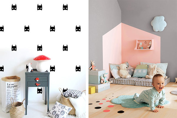 Habitaciones infantiles 7 paredes originales y f ciles - Decoracion en paredes para ninos ...