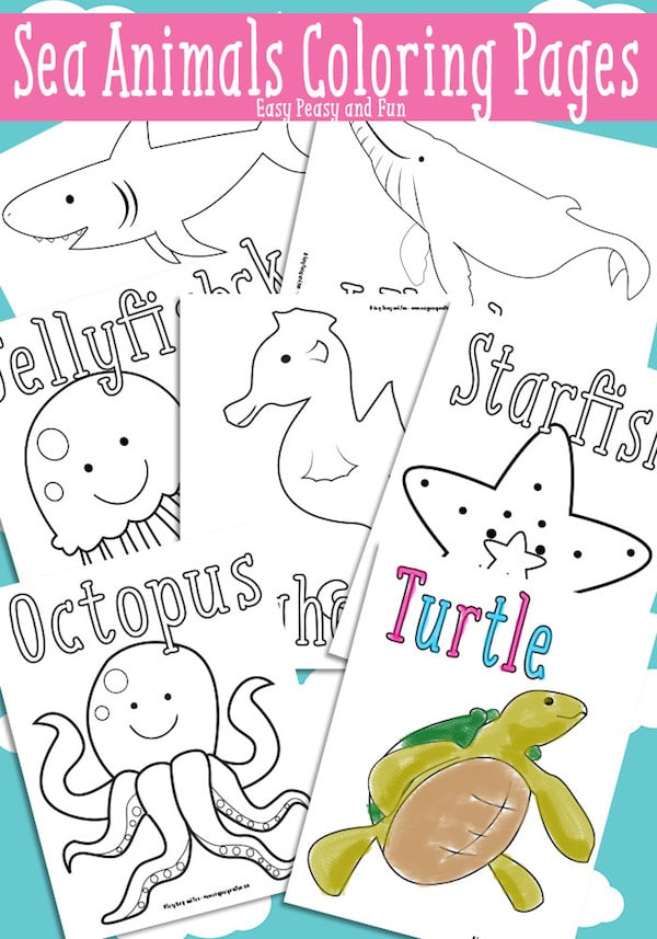 40 dibujos para colorear de animales  Pequeocio