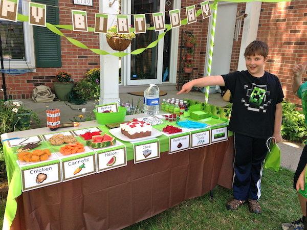 Ideas para fiestas infantiles de minecraft pequeocio - Ideas para fiestas en casa ...