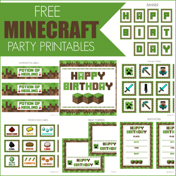 Ideas para fiestas infantiles de minecraft pequeocio for Food bar games free online