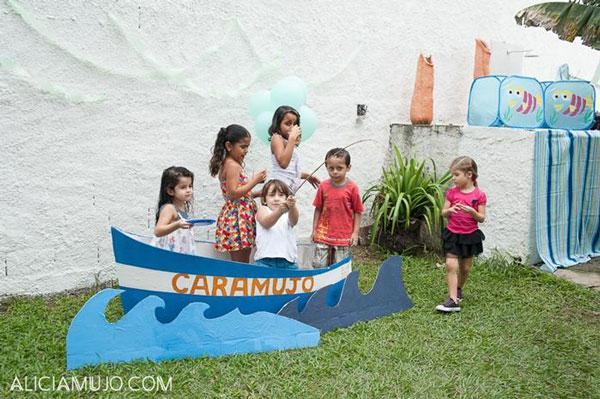 Una fiesta infantil de pesca