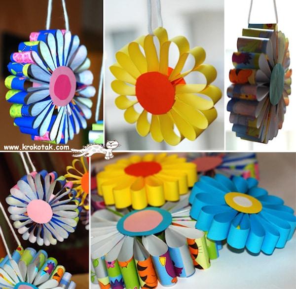 Flores De Papel 5 Ideas Para Hacer Con Los Ninos Pequeociocom - Hacer-flores-con-papel