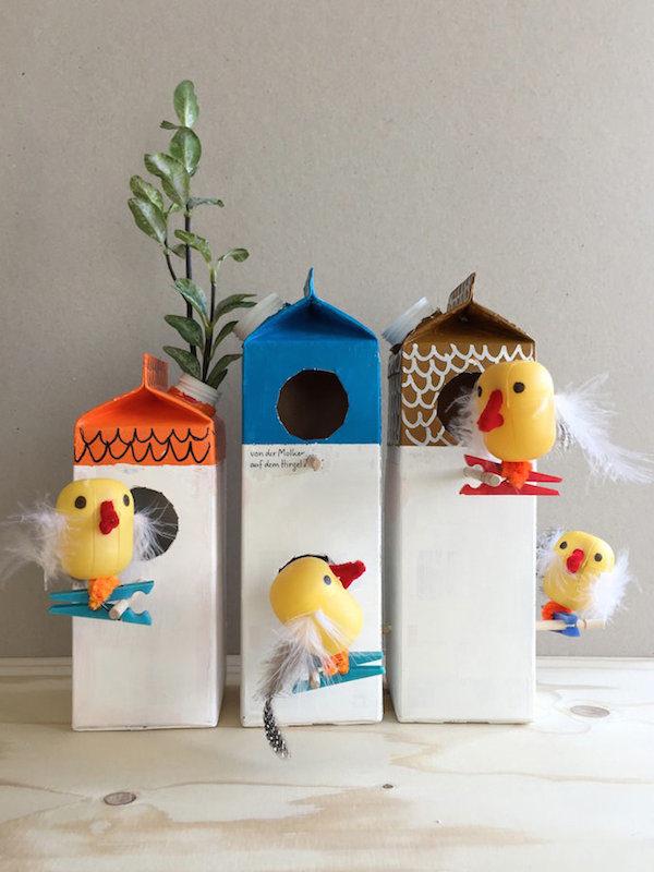 5 manualidades recicladas con envases de leche pequeocio - Manualidades infantiles recicladas ...