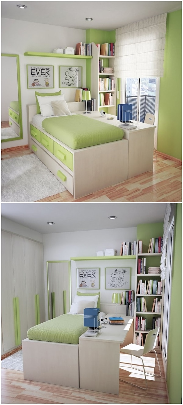 Ideas para decorar un dormitorio juvenil colores alegres - Ideas para decorar dormitorio juvenil ...
