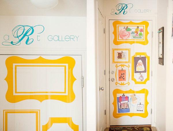 habitaciones infantiles puertas decoradas divertidas On decoracion puertas infantil