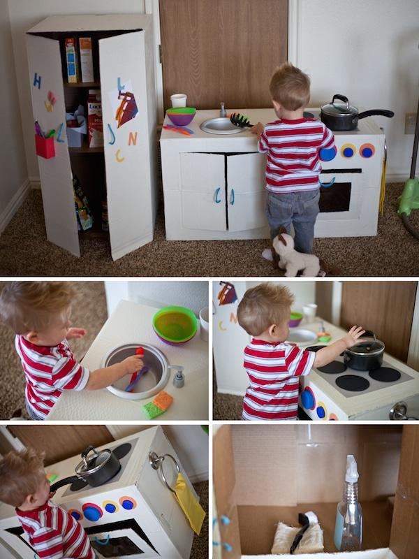 5 cocinitas de juguete caseras pequeocio - Hacer cocinita de juguete ...