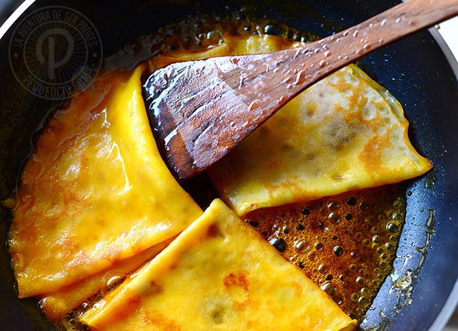 crepes suzette dulces
