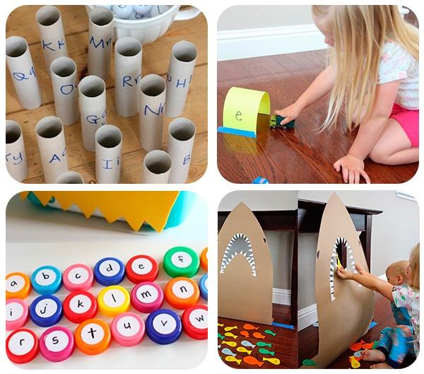 40 juegos educativos caseros pequeocio for Aprendiendo y jugando jardin infantil