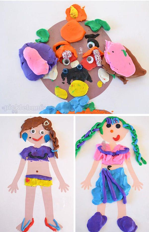 Manualidades infantiles para jugar con plastilina - Manualidades pequeocio ...