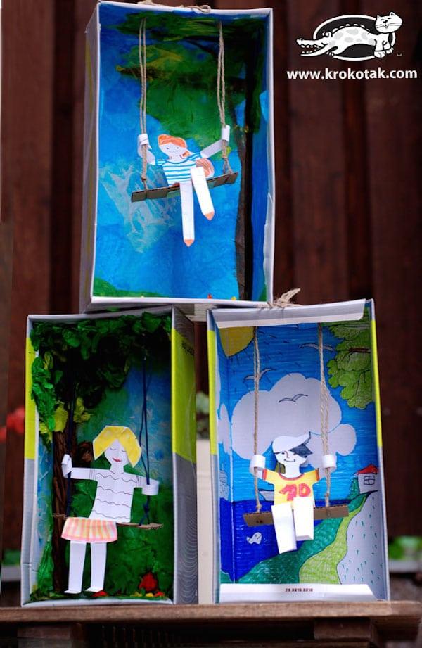 5 manualidades recicladas con cajas de zapatos pequeocio - Cajas para manualidades ...