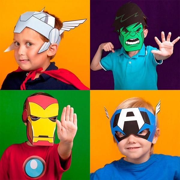 Máscaras de súperhéroes