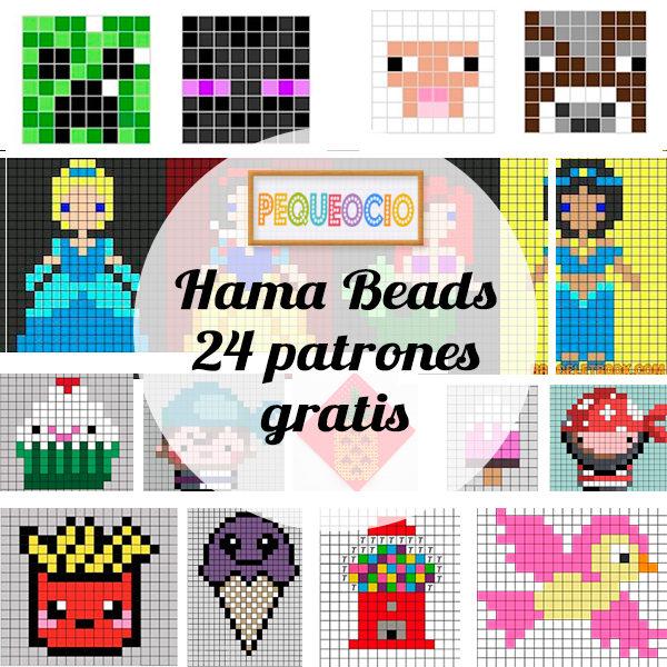 Hama beads, 24 patrones gratis - PequeOcio