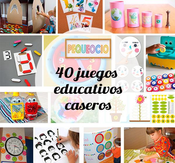40 Juegos Educativos Caseros Pequeocio Com