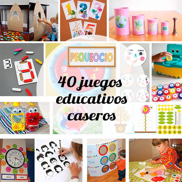 40 juegos educativos caseros pequeocio for Caja de colores jardin infantil
