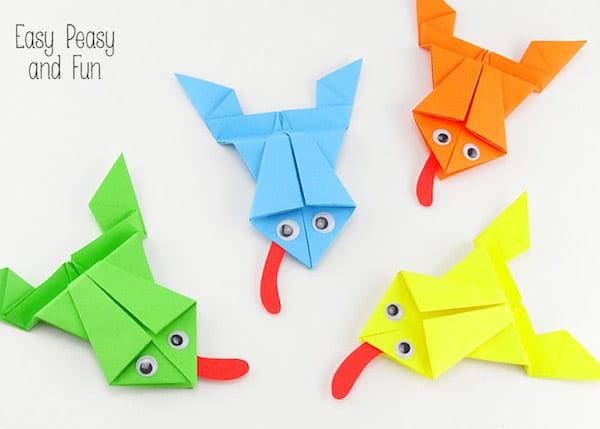 5 manualidades con papel animales fciles Pequeocio