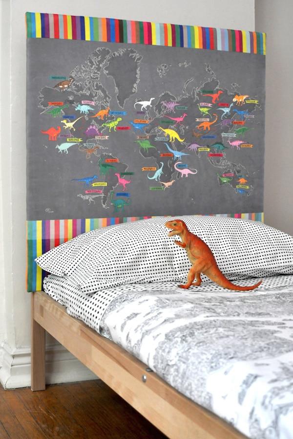 cabeceros de cama forrados con tela