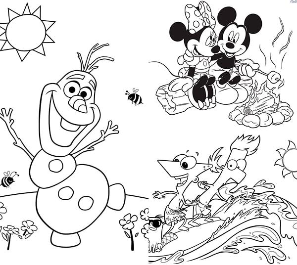 25 dibujos para colorear sobre el verano - Pequeocio