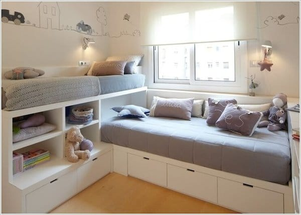 6 habitaciones infantiles peque as - Habitaciones infantiles con dos camas ...