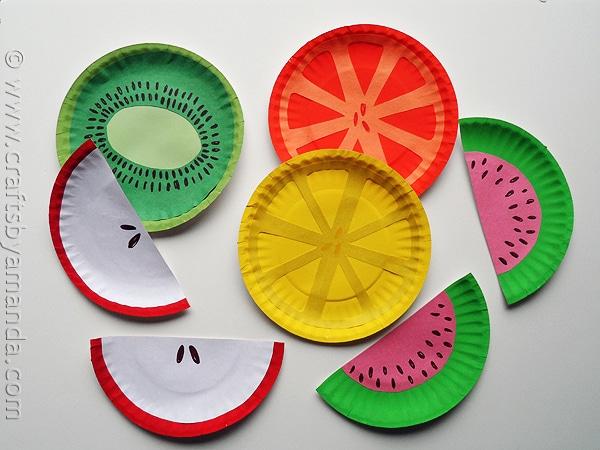 Manualidades para ni os frutas coloridas pequeocio - Manualidades faciles y baratas ...