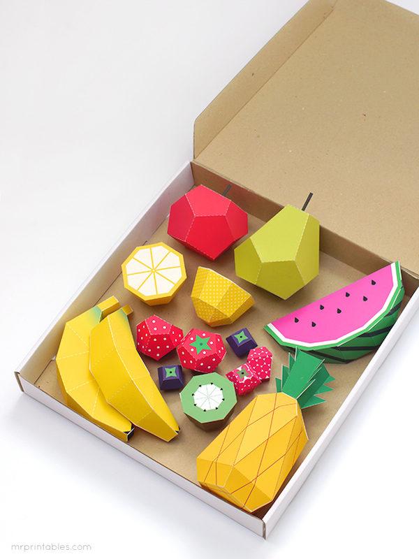manualidades para ni os frutas coloridas pequeocio
