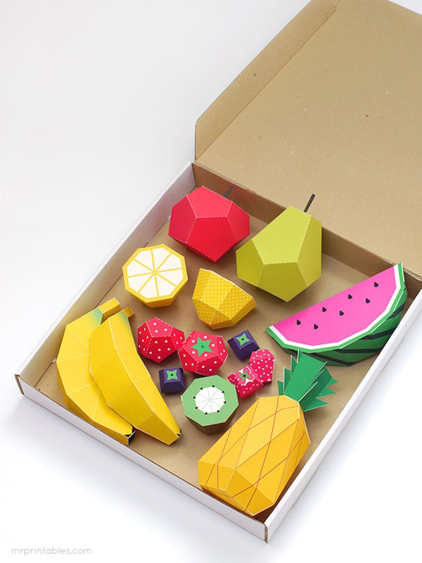 Manualidades para ni os frutas coloridas pequeocio - Manualidades cocina para ninos ...