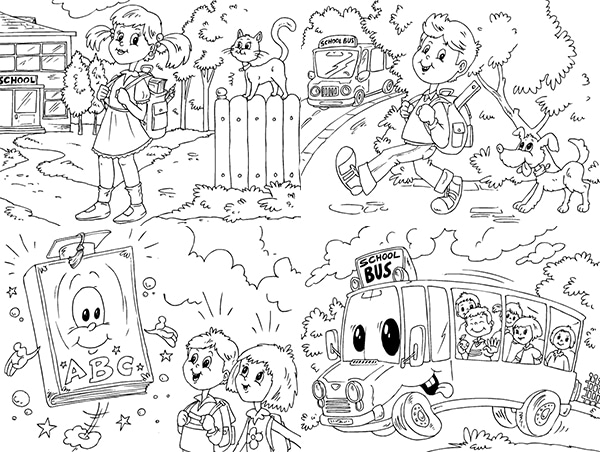44 dibujos para colorear ¡vuelta al cole! | PequeOcio ...