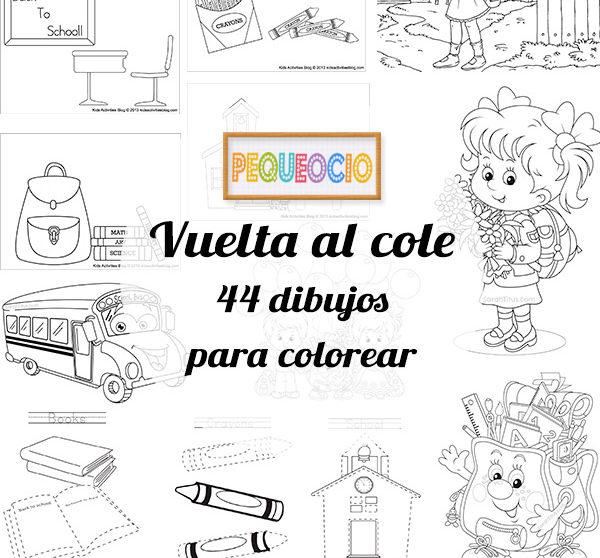 44 dibujos para colorear ¡vuelta al cole! | Pequeocio.com