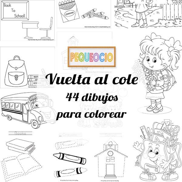 44 Dibujos Para Colorear Vuelta Al Cole Pequeociocom