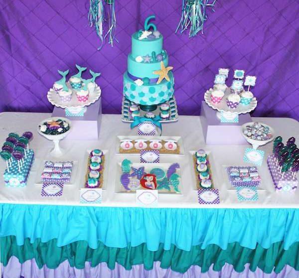Fiestas Infantiles Un Cumpleaños De La Sirenita Pequeociocom