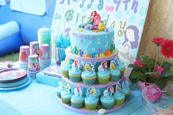 Fiestas infantiles, un cumpleaños de La Sirenita - PequeOcio
