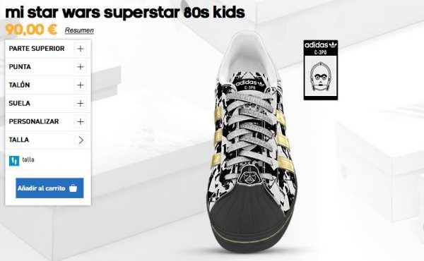 Adidas Star Wars: zapatillas para niños
