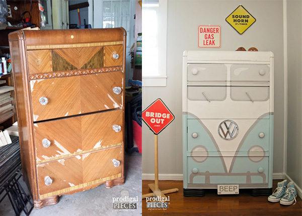 5 sorprendentes muebles reciclados para ni os pequeocio for Modernizar salon muebles clasicos