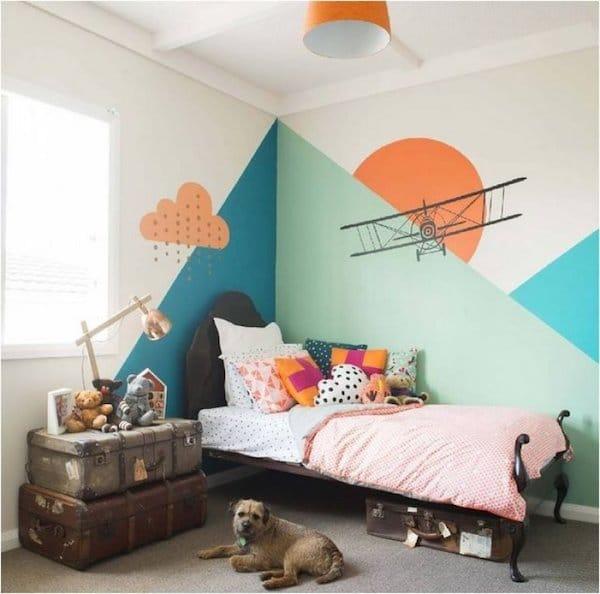 Paredes originales para las habitaciones infantiles - Paredes habitaciones infantiles ...