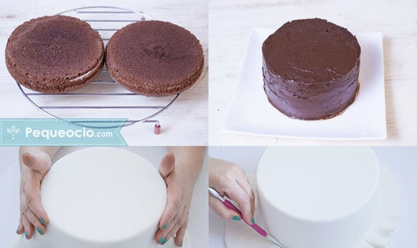 tarta fondant paso a paso