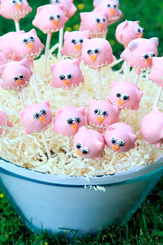 Cake Pops para fiestas infantiles