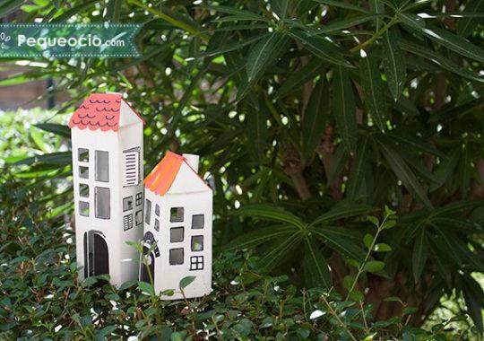 casa de juguete reciclada
