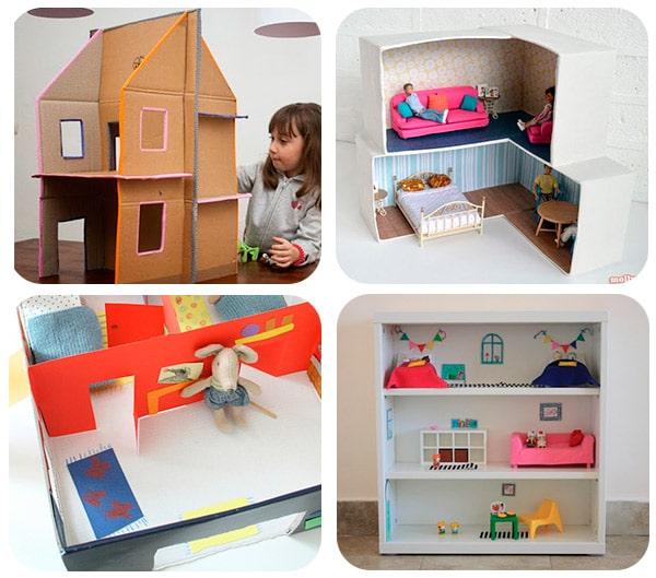 12 casas de mu ecas para hacer en casa pequeocio for Casa de juguetes para jardin