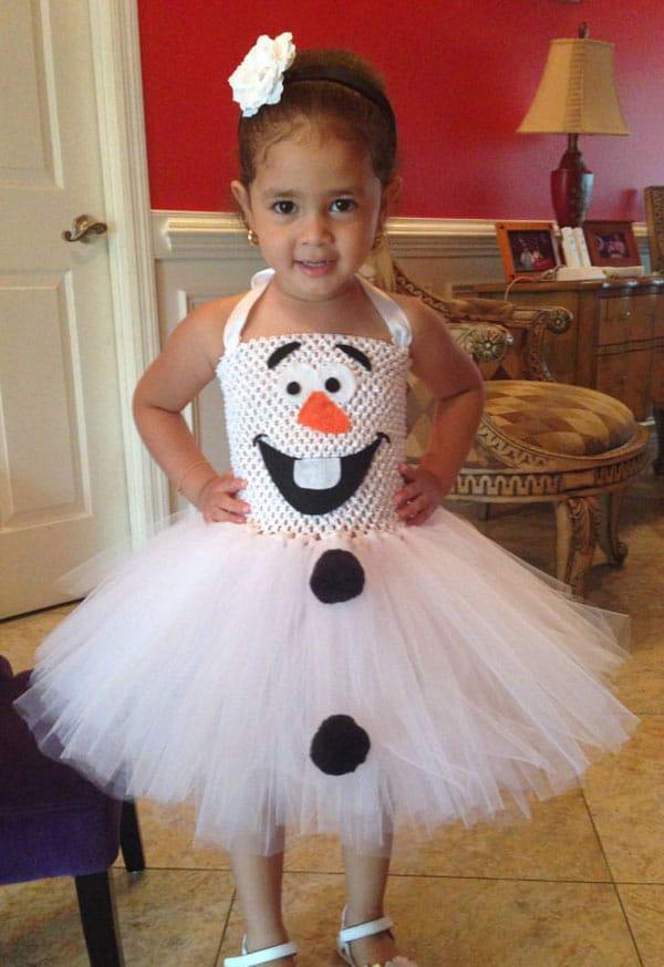 Disfraz casero de Frozen Olaf