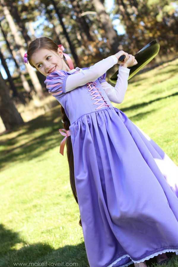 Disfraz para niñas Disney: disfraz de Rapunzel casero