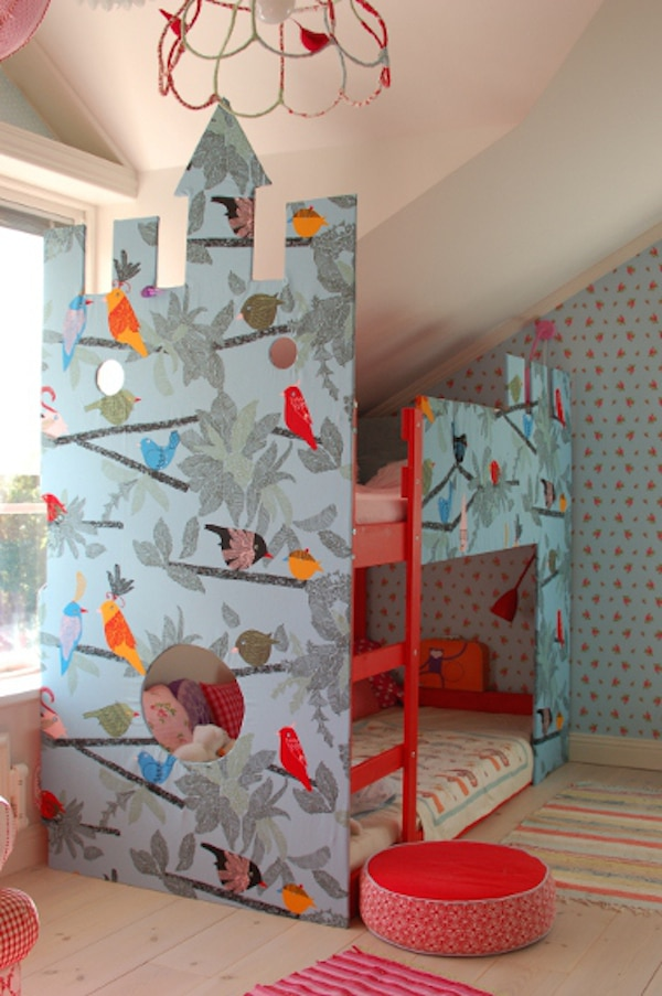 Habitaciones infantiles con castillos pequeocio - Ikea cama infantil ...