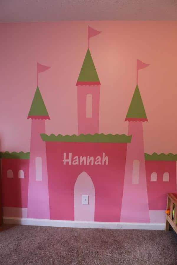 Habitaciones infantiles con castillos pequeocio - Mural pared infantil ...