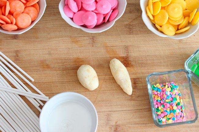 ingredientes para decorar cake pops